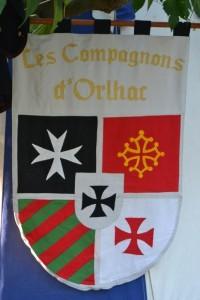 Étendard Compagnons d'Orlhac